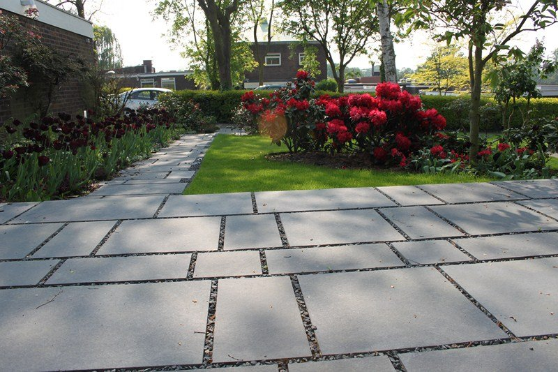 London Garden Builders black limestone, Garden in Sydenham