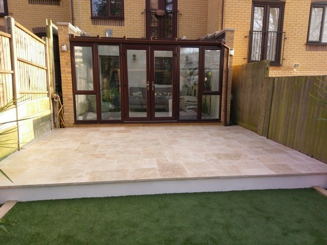London Garden Builders design Step, paving and artificial grass. Garden in Crystal Palace
