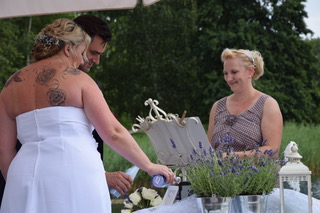 Heike Hirmer und Braut