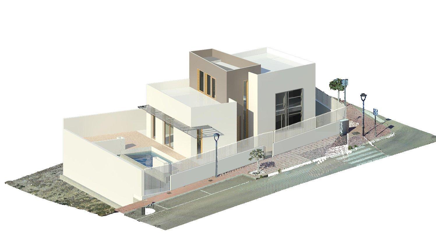Diseño en vivienda unifamiliar moderna en Almeria. Arquitectura moderna en Almeria. Interiorismo Almeria.