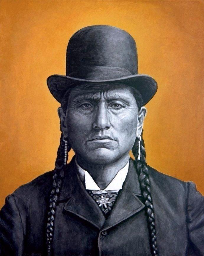Quanah Parker painting by Stu Braks
