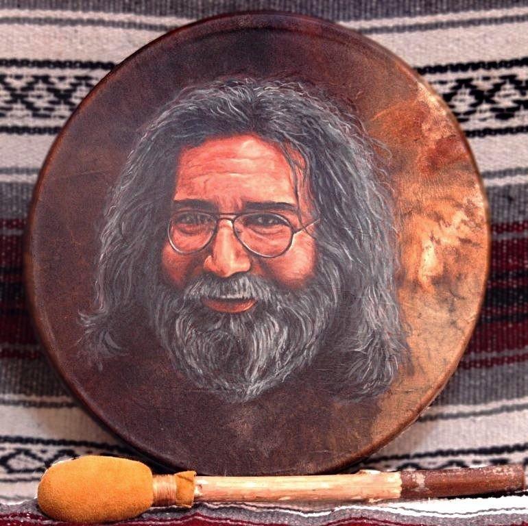 Jerry Garcia painting by Stu Braks