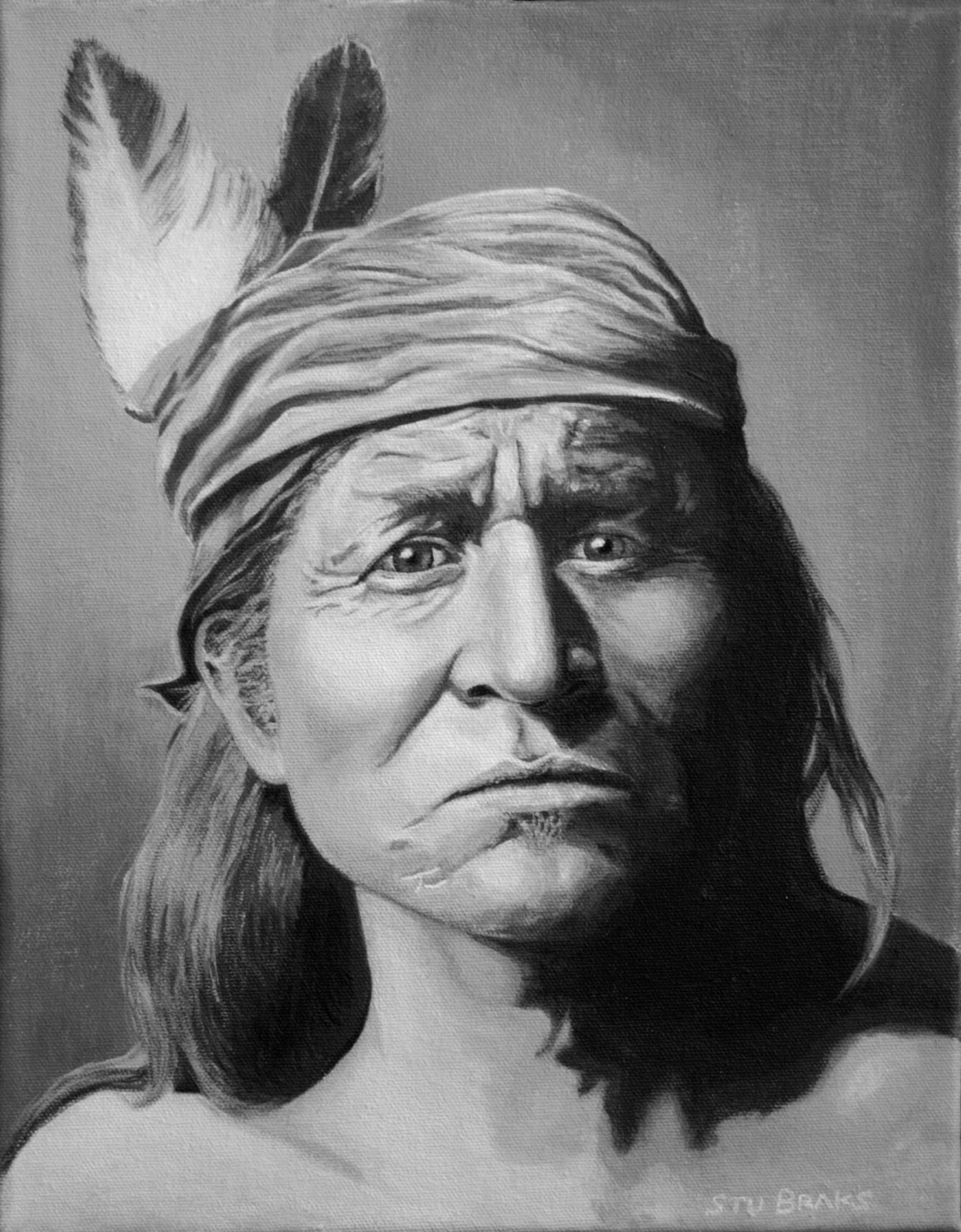Apache Warrior painting by Stu Braks