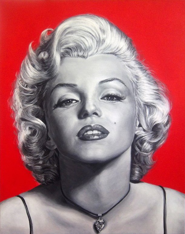 Marilyn Monroe painting by Stu Braks