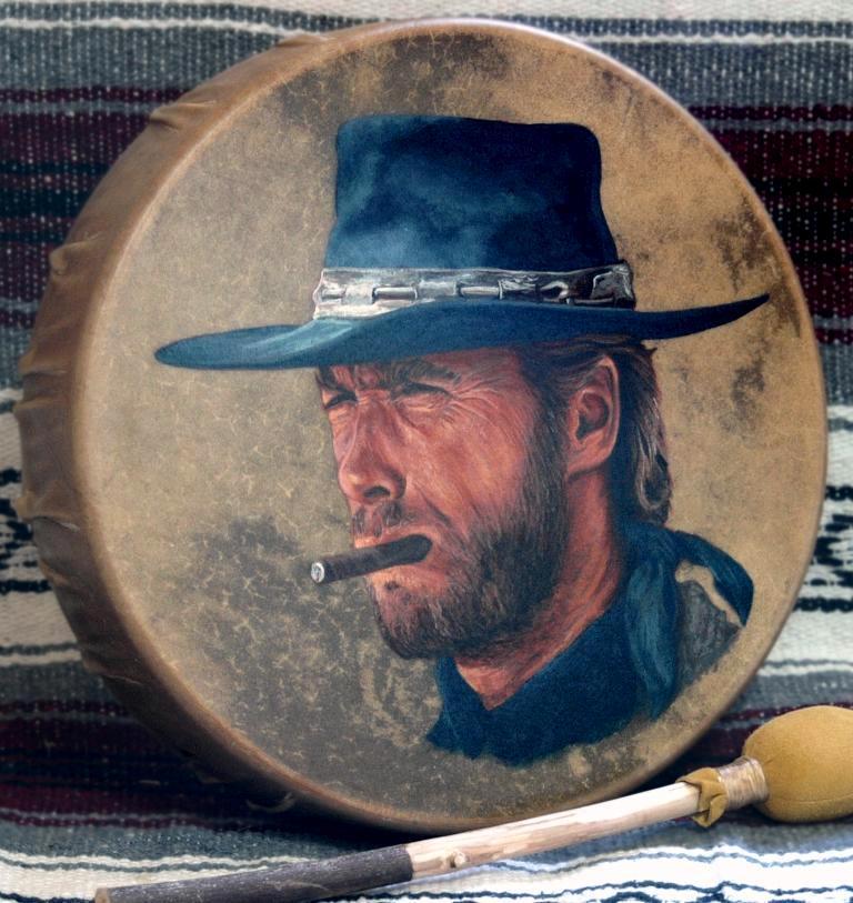 Clint Eastwood painting by Stu Braks