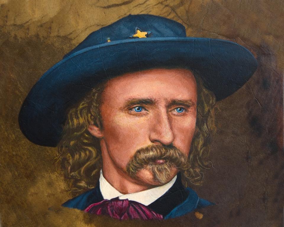 George Armstrong Custer painting by Stu Braks