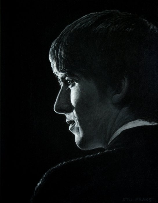 George Harrison Beatles painting by Stu Braks