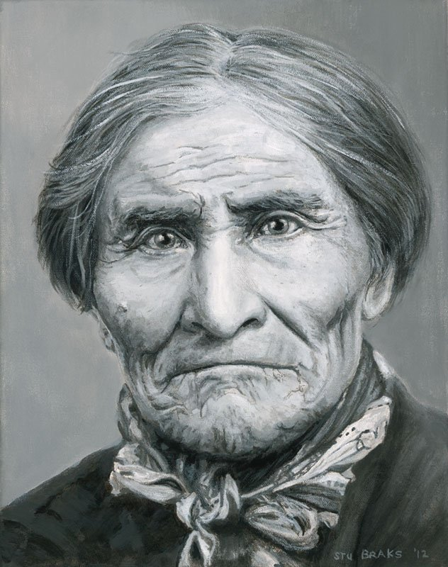 Geronimo painting by Stu Braks