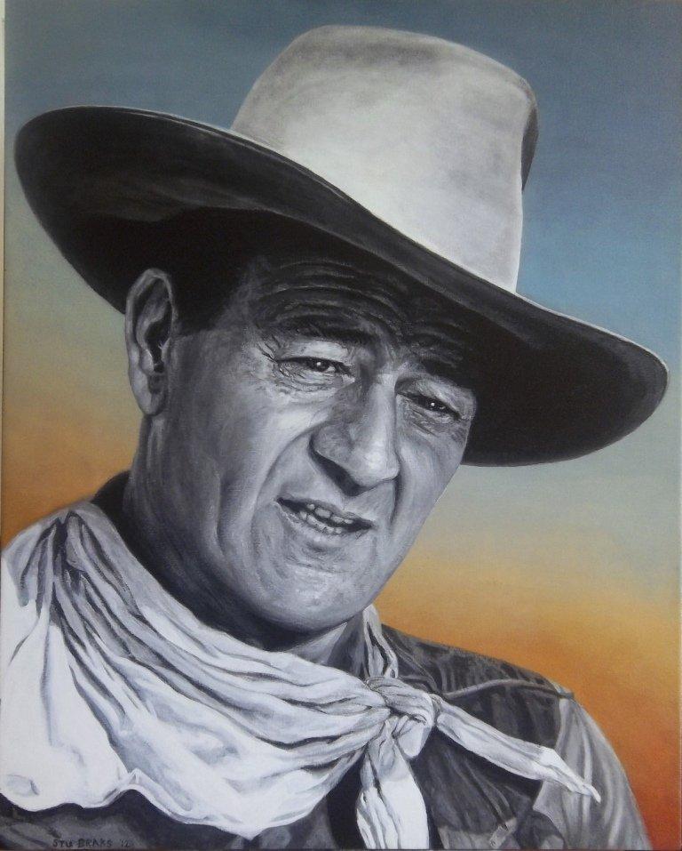John Wayne painting by Stu Braks