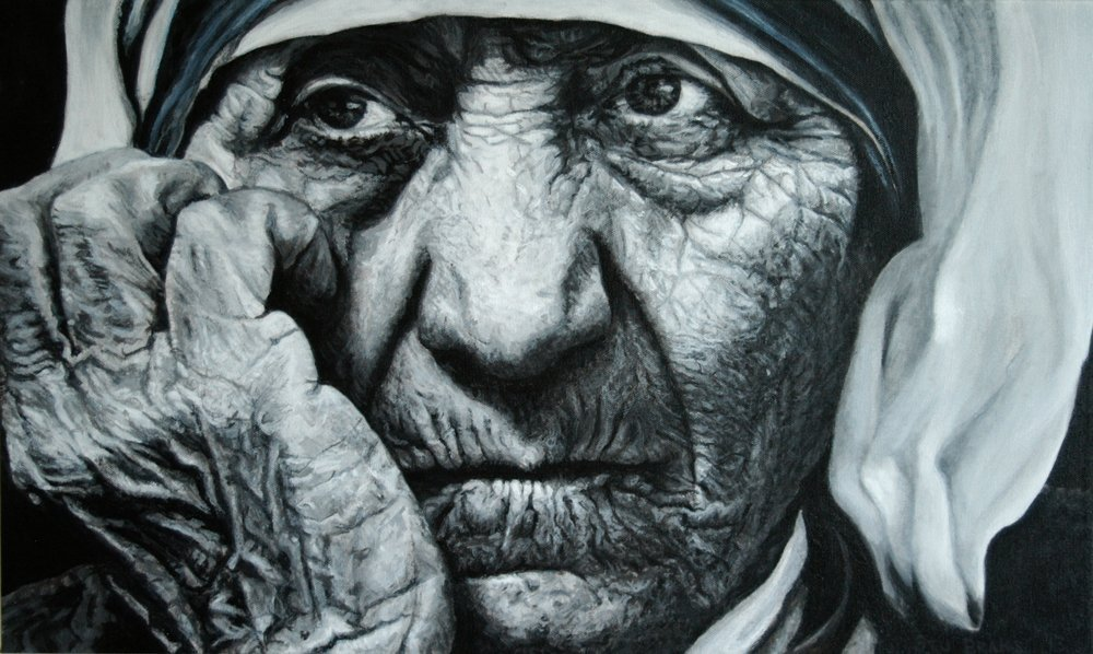 Mother Teresa painting by Stu Braks