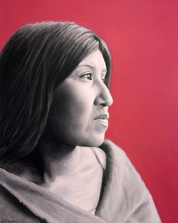 Cahuilla Woman painting by Stu Braks