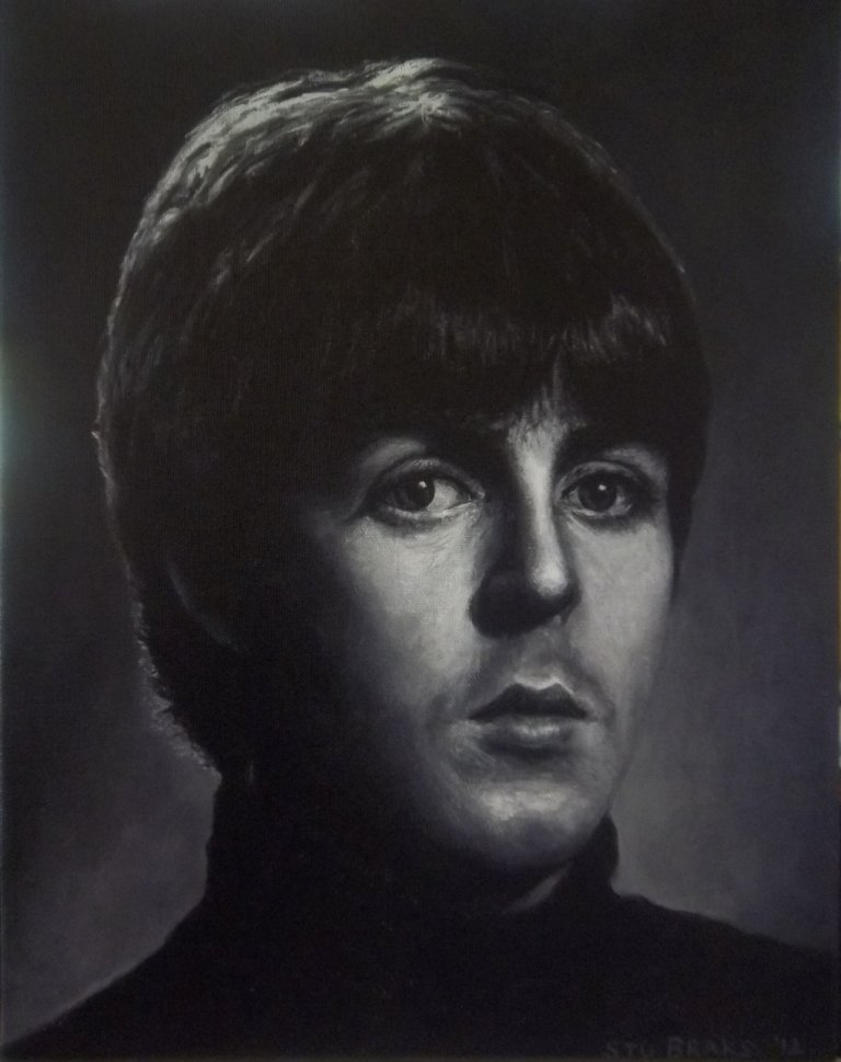 Paul McCartney Beatles painting available