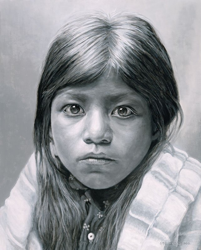 Pueblo Girl painting by Stu Braks