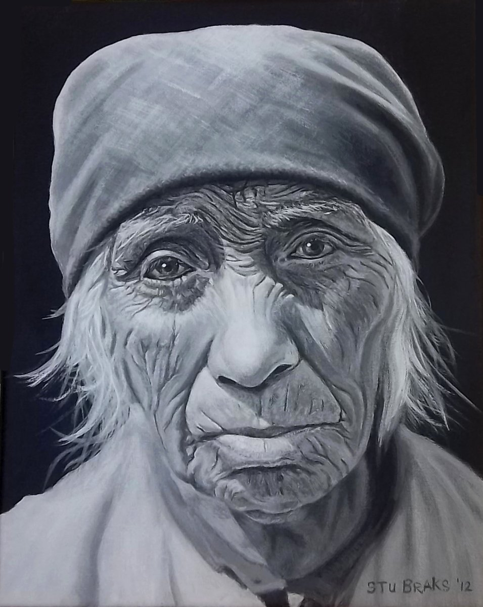 Serrano Woman painting by Stu Braks