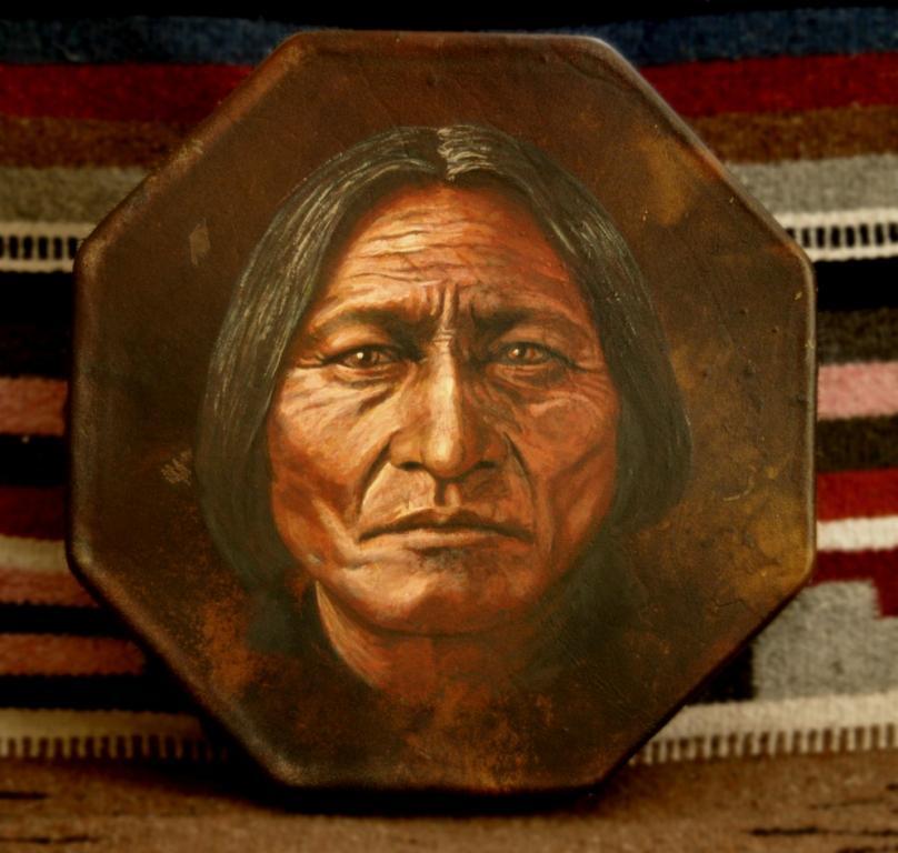 Sitting Bull painting by Stu Braks