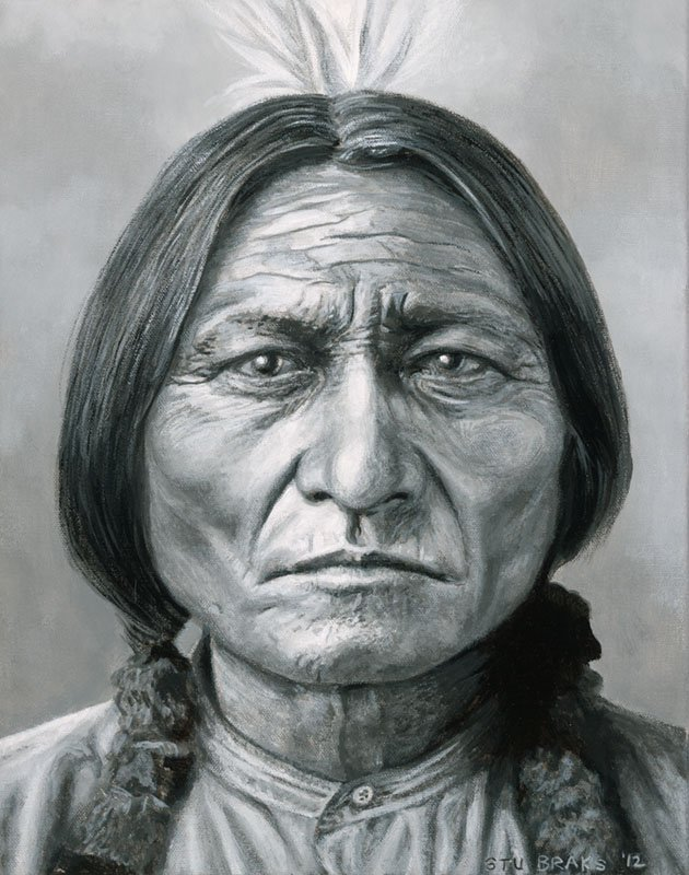 Sitting Bull painting by Stu Braks