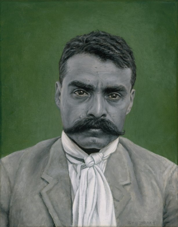 Emiliano Zapata painting by Stu Braks