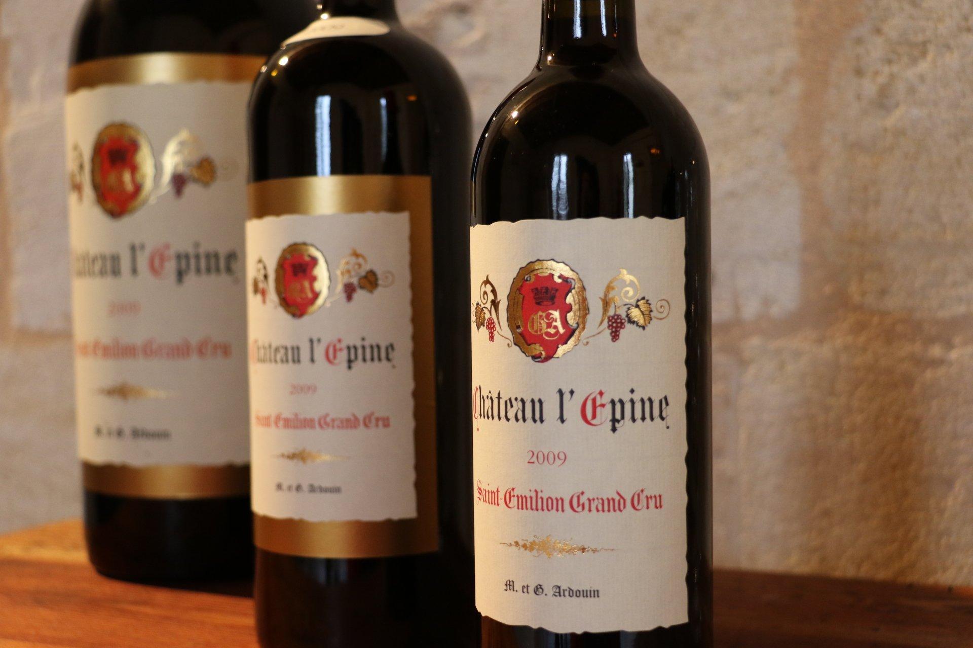 Bouteilles de vin Château l'épine
