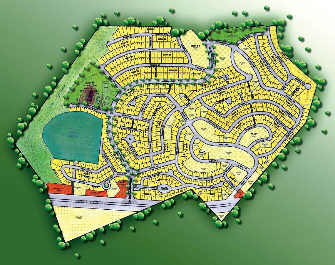 Blueprint of a neighborhood