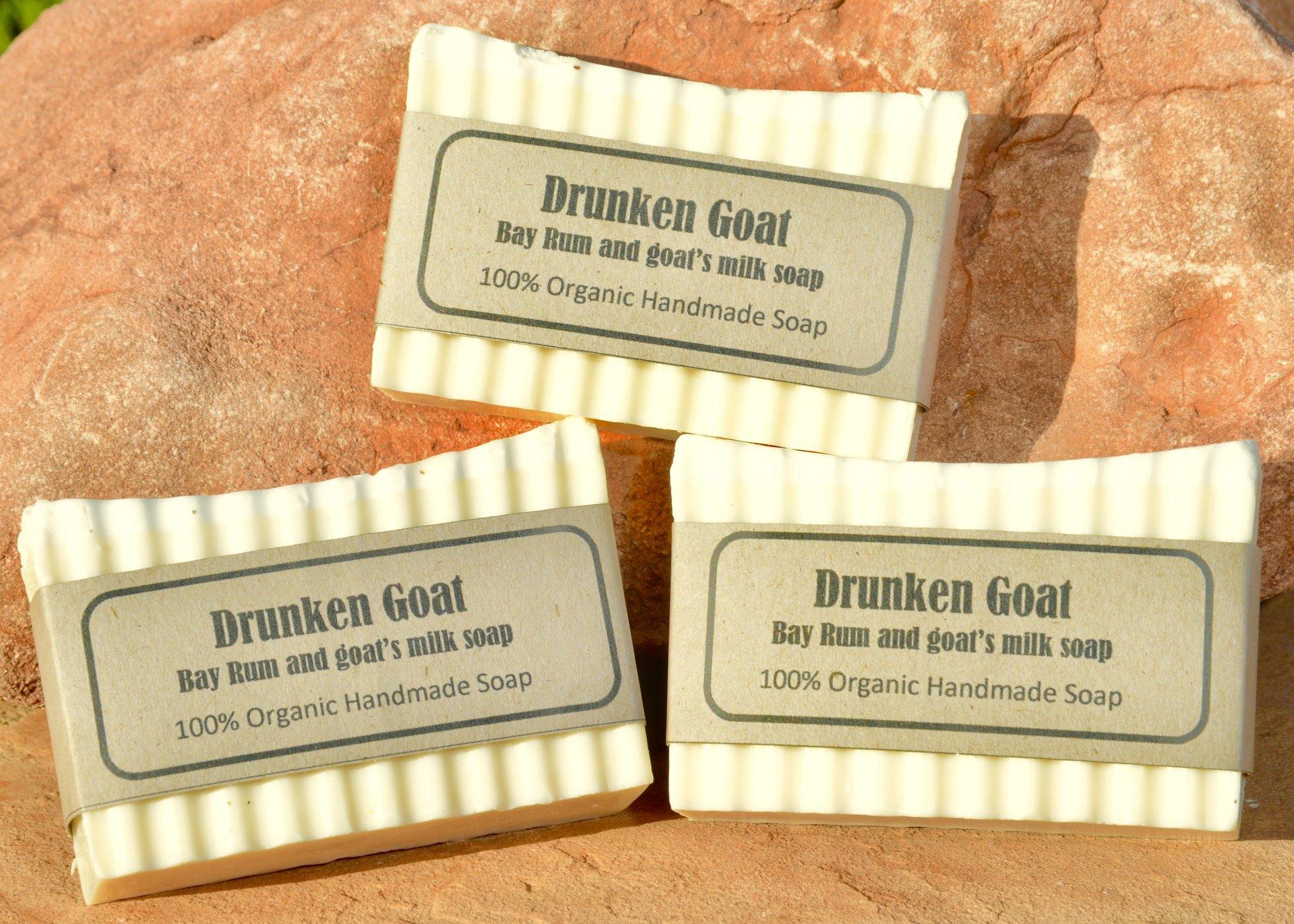 bay rum and goat milk organic soap