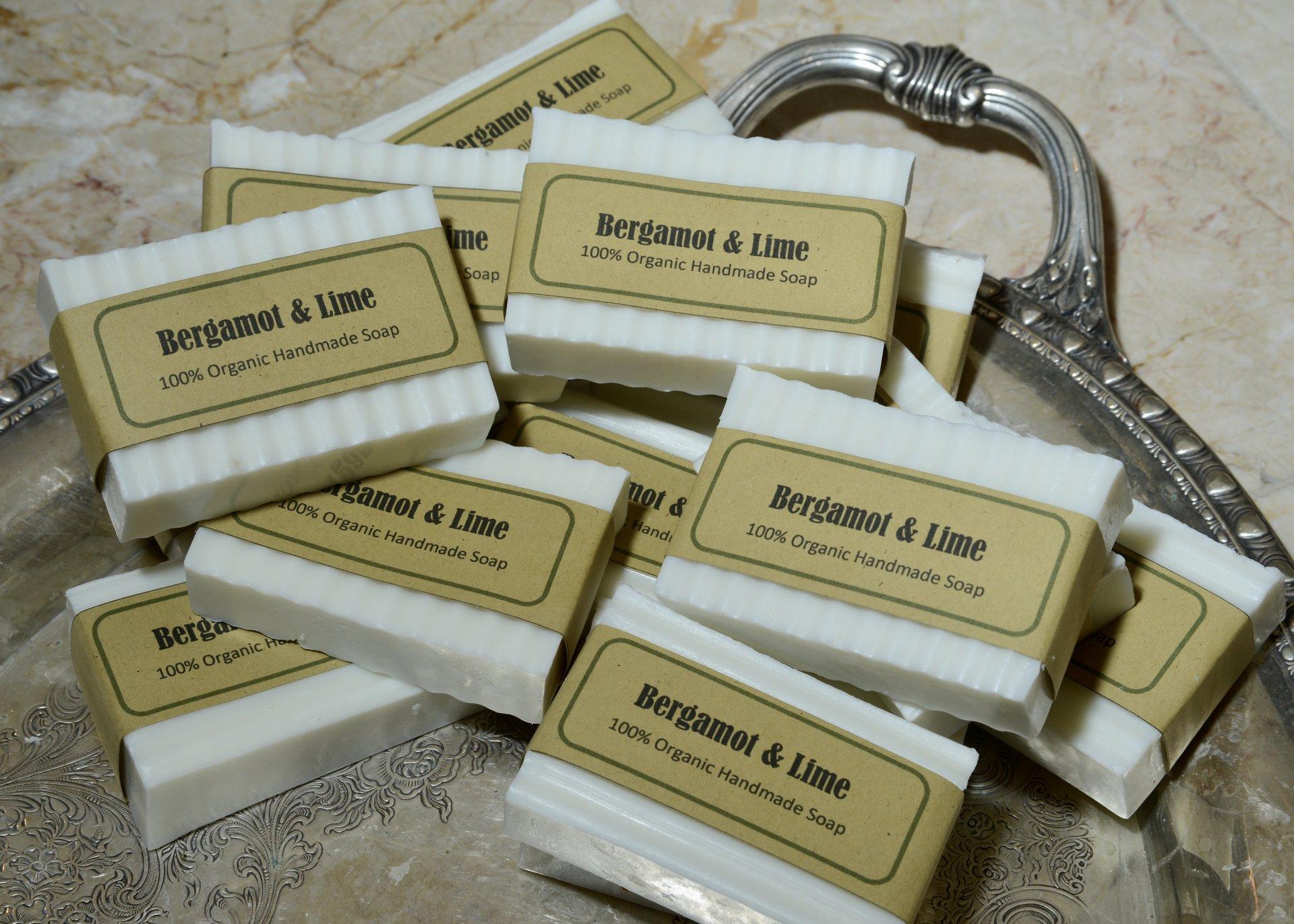 Bergamot lime 100% organic soap