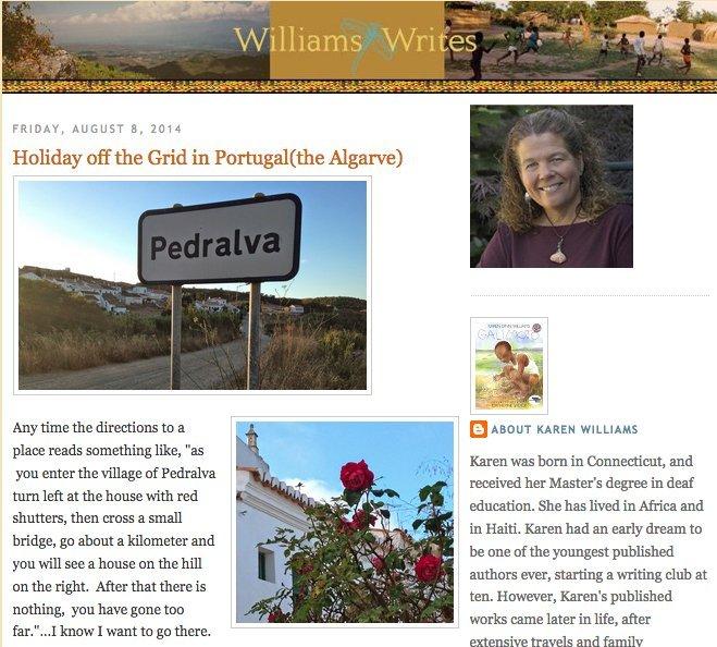 Karen Williams Author Visit Algarve