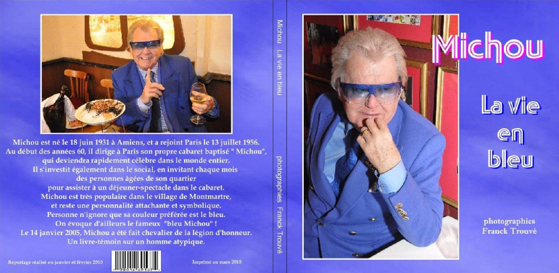 livre michou la vie en bleu du photographe franck trouvé