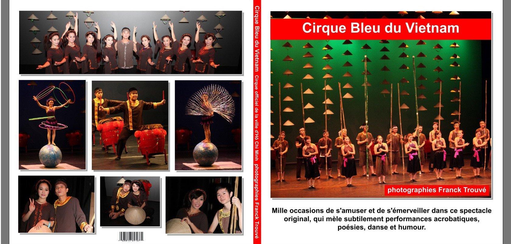 livre le cirque bleu du vietnam du photographe franck trouvé