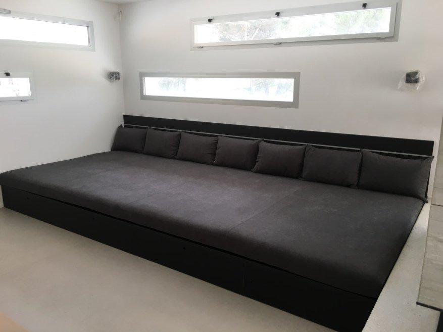 mousse et confection coussin sur mesure tissu ameublement lido. Black Bedroom Furniture Sets. Home Design Ideas