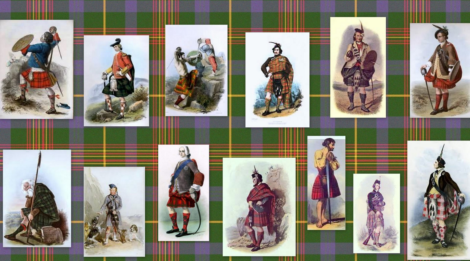 Old Scottish soldiers collage @uk genealogy.com