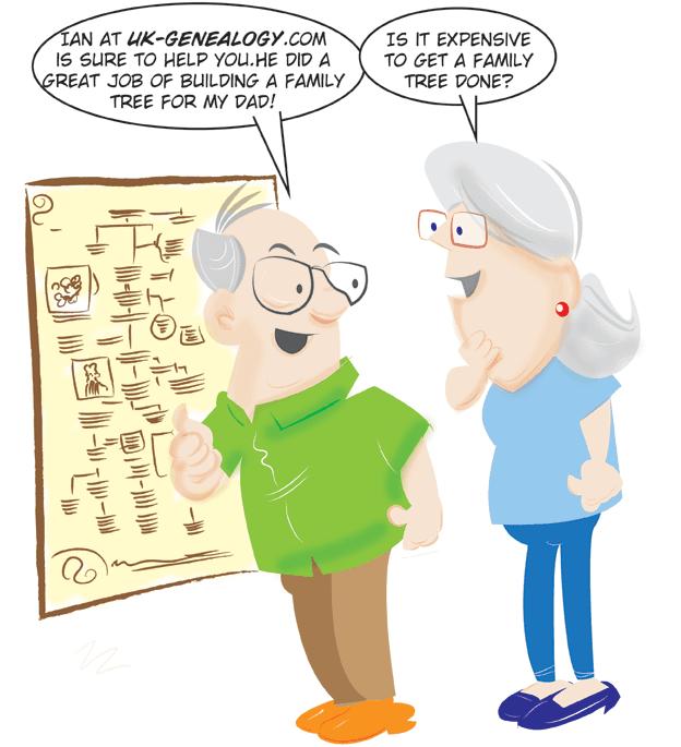 Fun Cartoons captions 2 @uk genealogy com