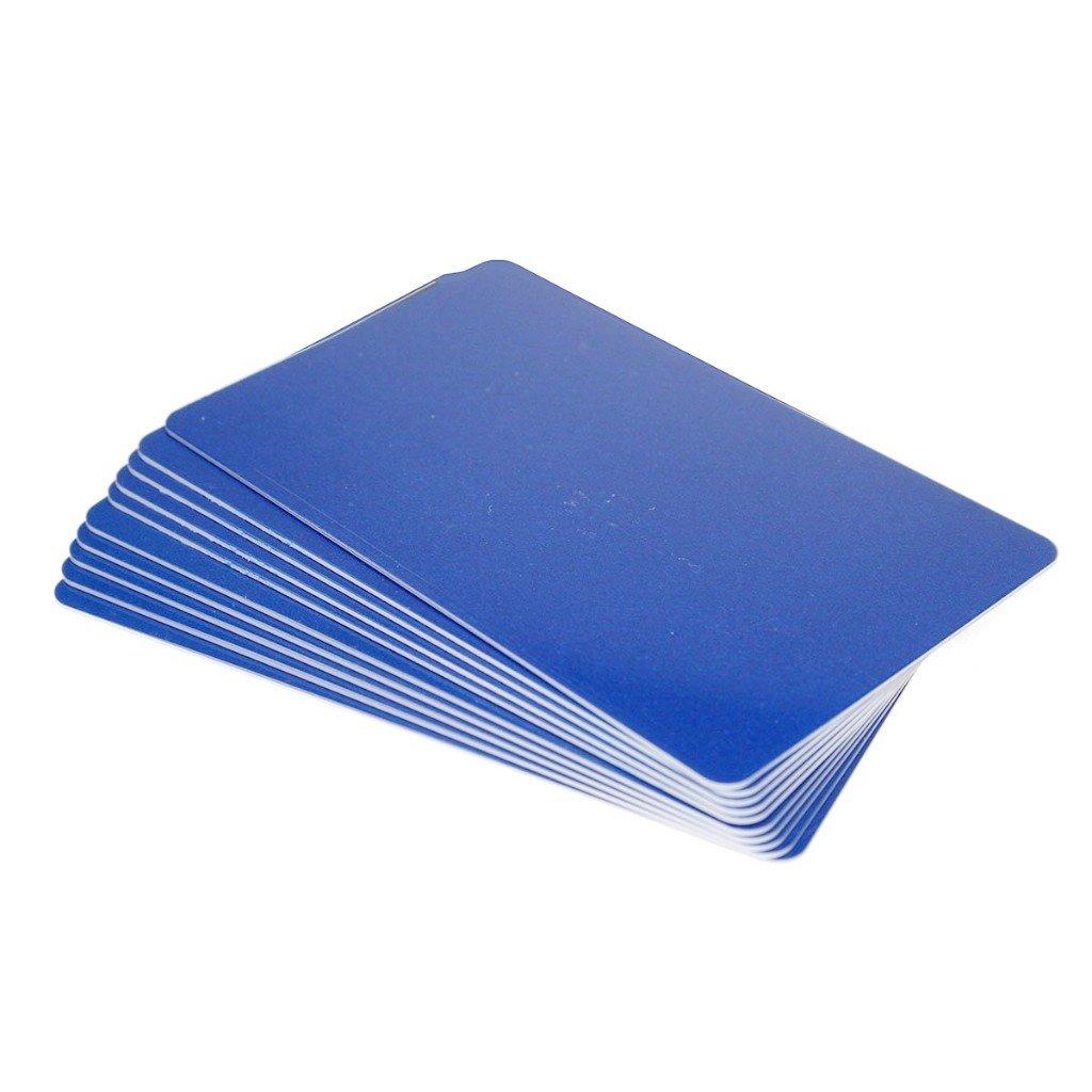 Karten, Zebra Premier Colour PVC, blau, 30 mil