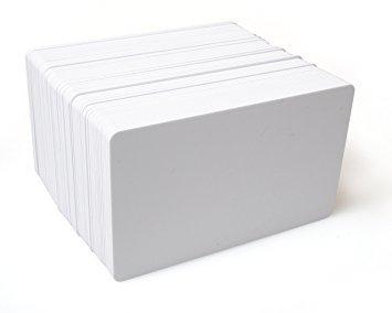 Karten, Zebra Premier PVC, weiß, 15 mil mit Rückseite beschriftbar