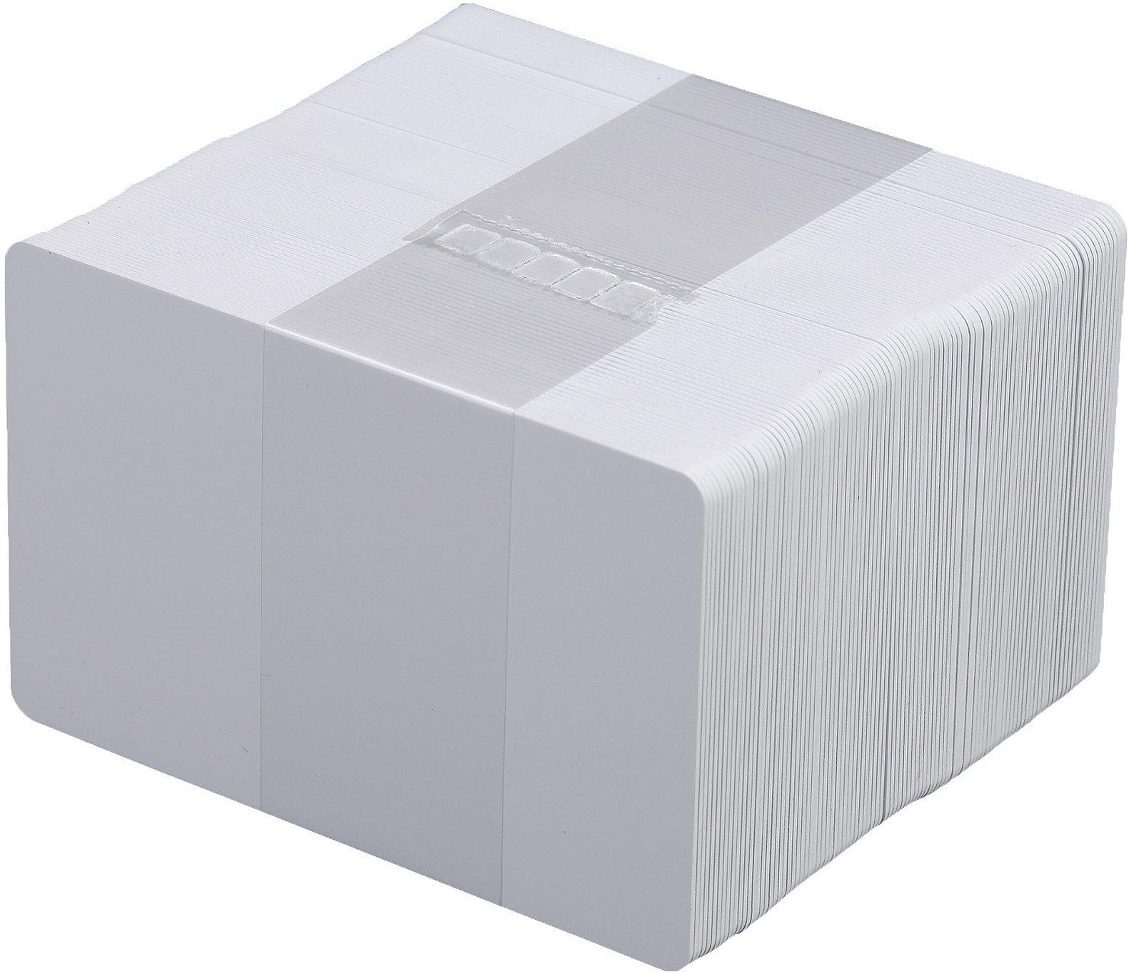 Karten, Zebra Premier Recycled PVC, weiß, 30 mil