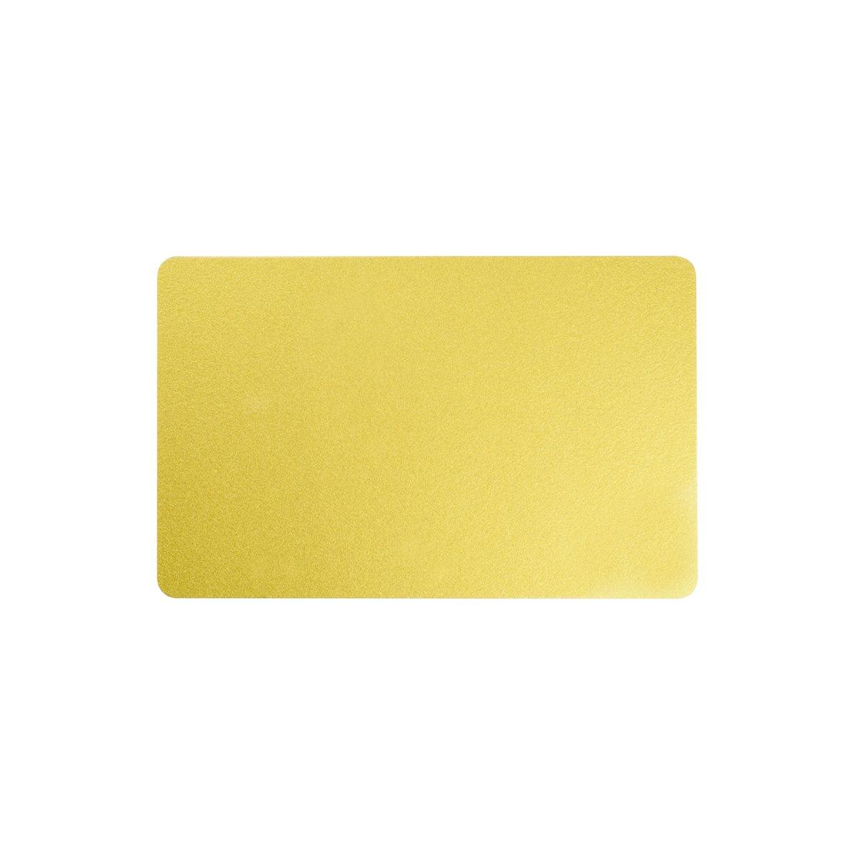 Karten, Zebra Premier Colour PVC, gold metallic, 30 mil