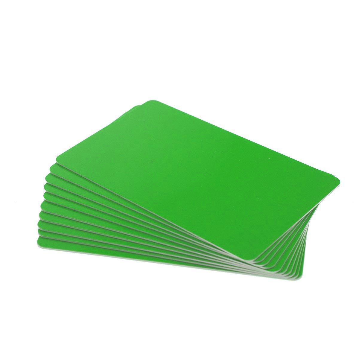 Karten, Zebra Premier Colour PVC, grün, 30 mil