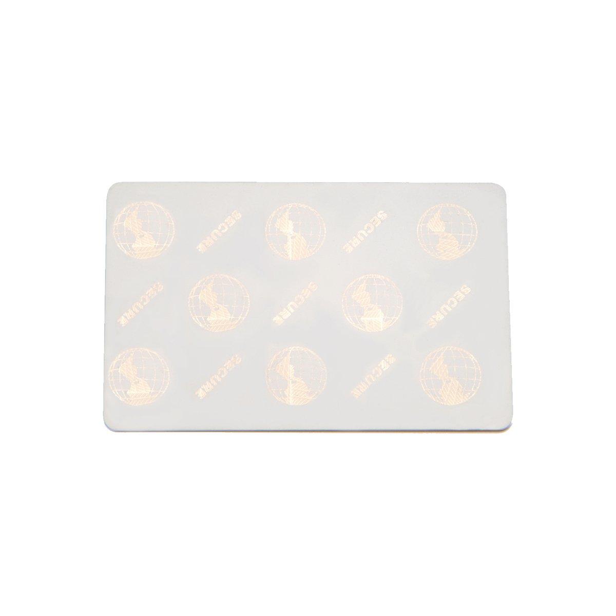 Karten, Zebra Premier Plus Security Cards, Hologramm, 30 mil mit Translucent Embedded Hologram, 2D world globe surf