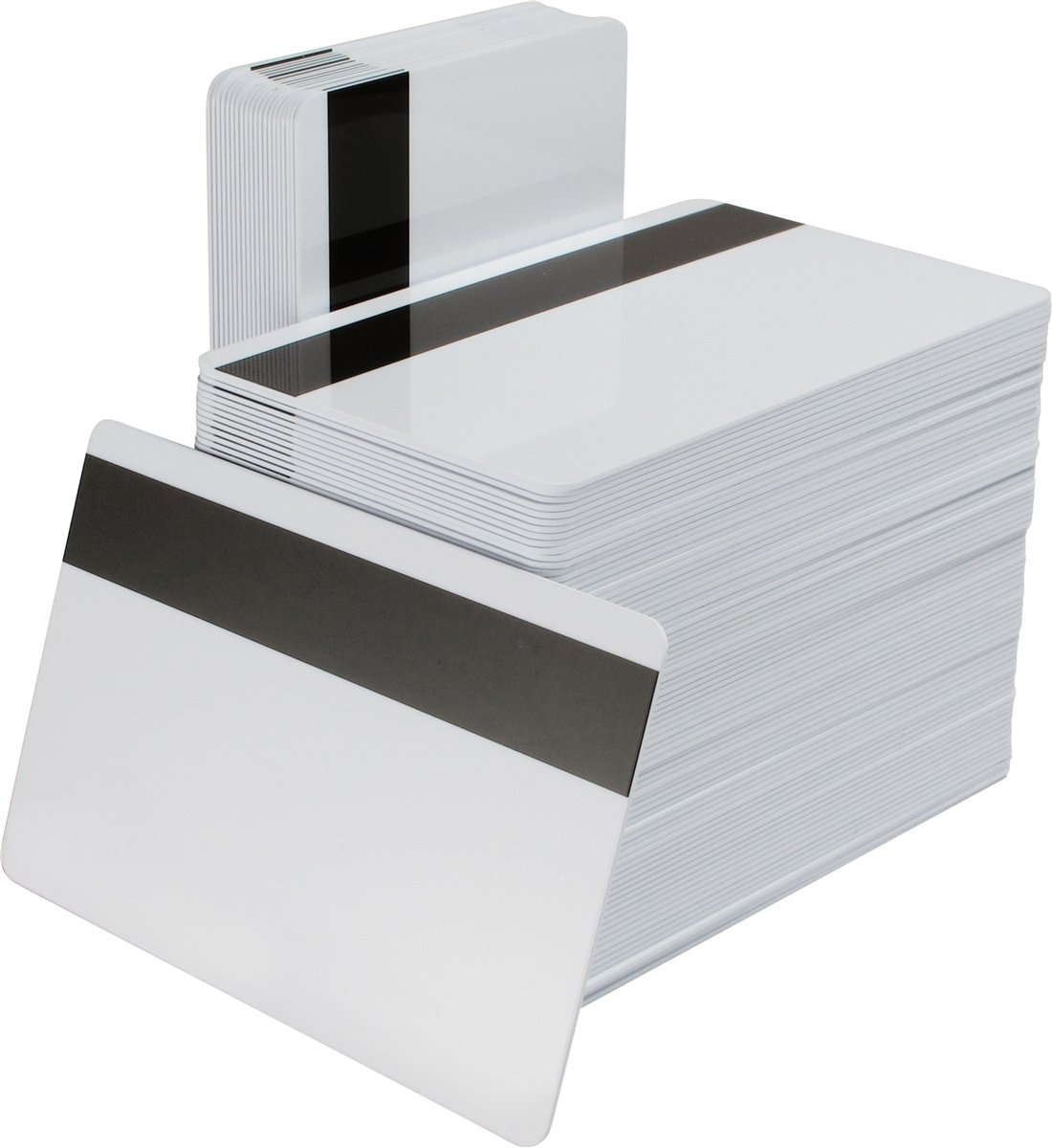 Karten, Zebra Premier Signature Panel PVC, weiß, 30 mil mit Signaturfeld, Magnetstreifen (hohe Koerzivität)