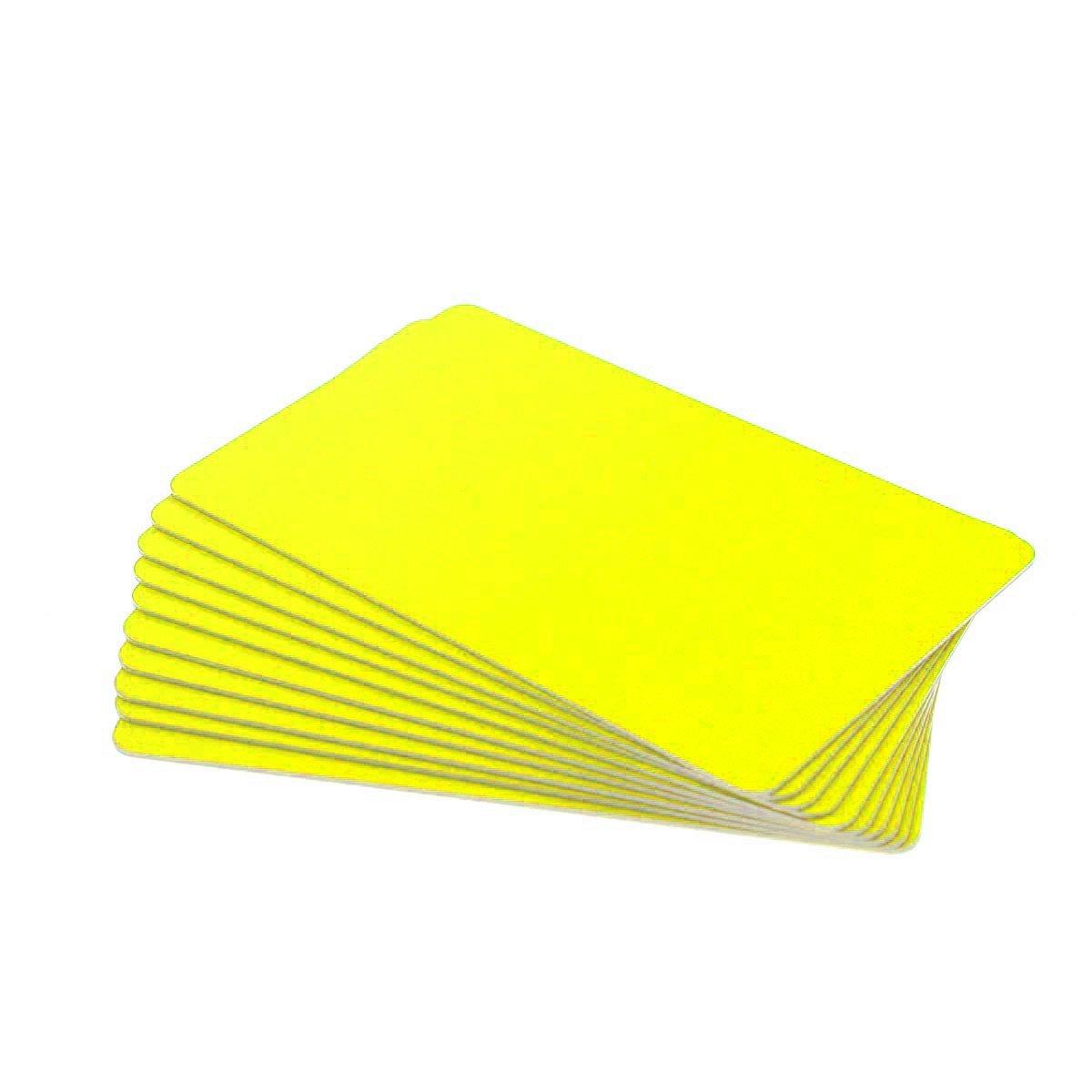 Karten, Zebra Premier Colour PVC, gelb, 30 mil