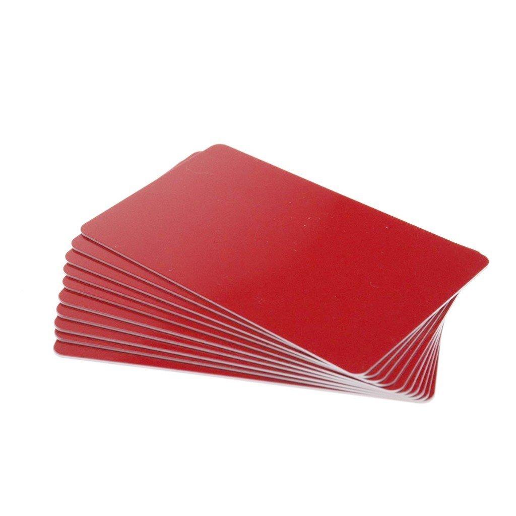 Karten, Zebra Premier Colour PVC, rot, 30 mil