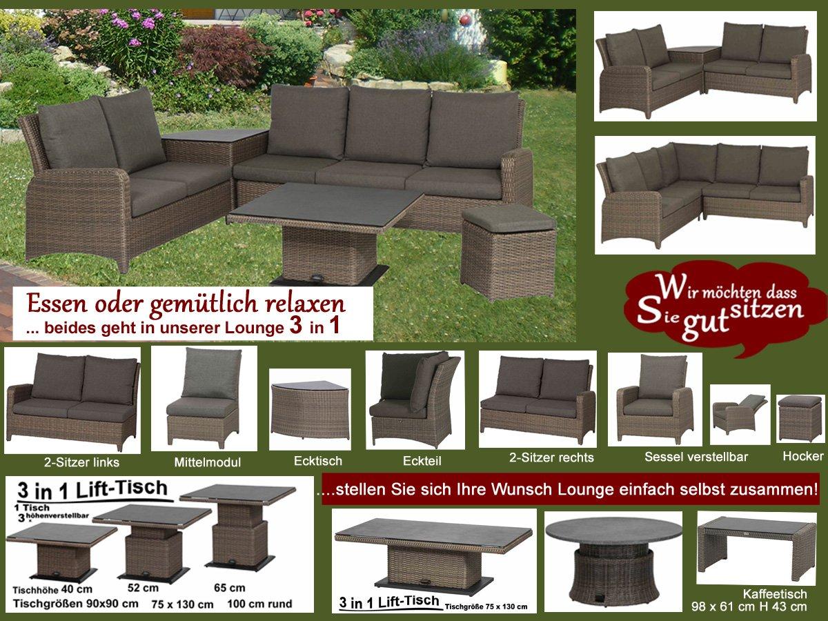 gartenm bel loungem bel ideale sitzh he individuell zusammenstellen. Black Bedroom Furniture Sets. Home Design Ideas