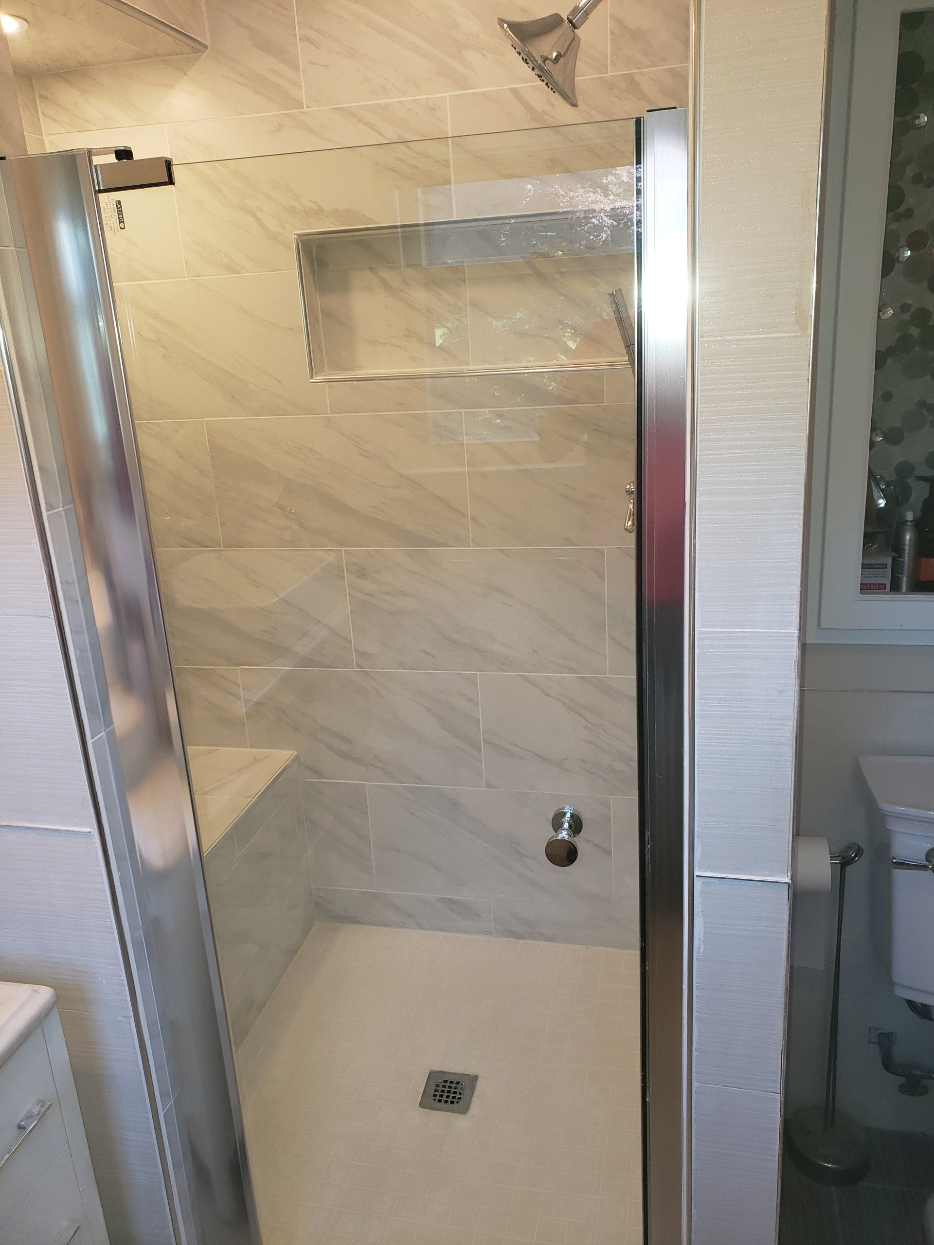 Master Bathroom Shower Expansion and Remodel in Elkins Park