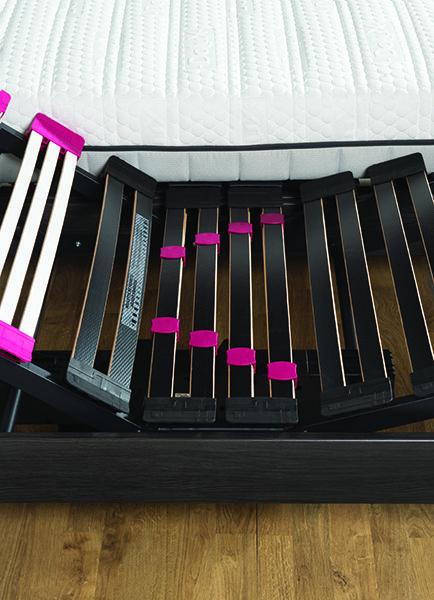sommier de relaxation lectrique graphit. Black Bedroom Furniture Sets. Home Design Ideas