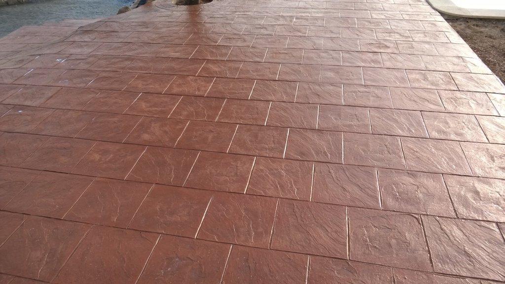 pavimento de hormigon impreso en tarragona