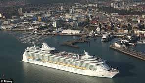 Looking down on Southampton Docks