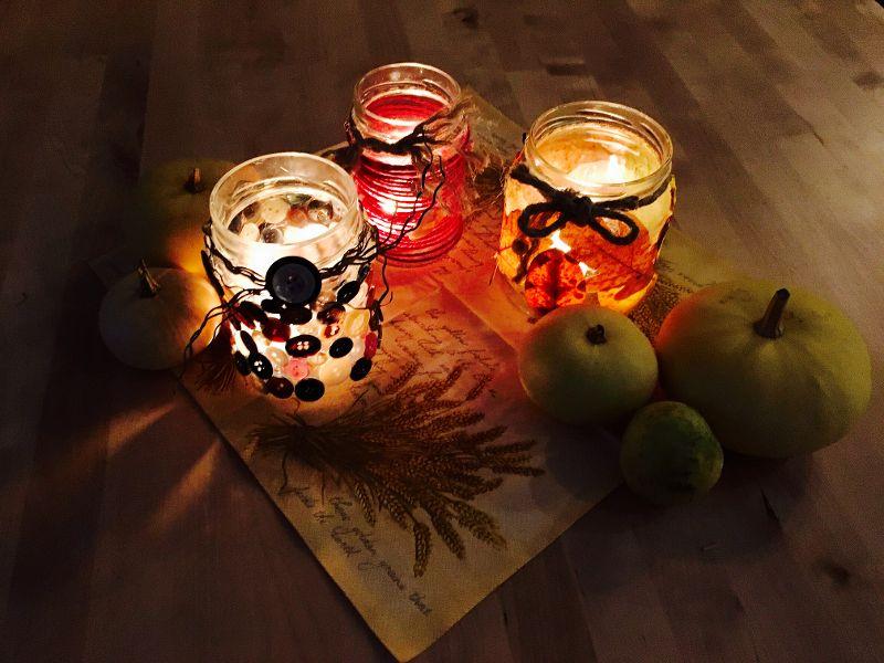 #Herbstlichter #Marmeladenglasmalanders