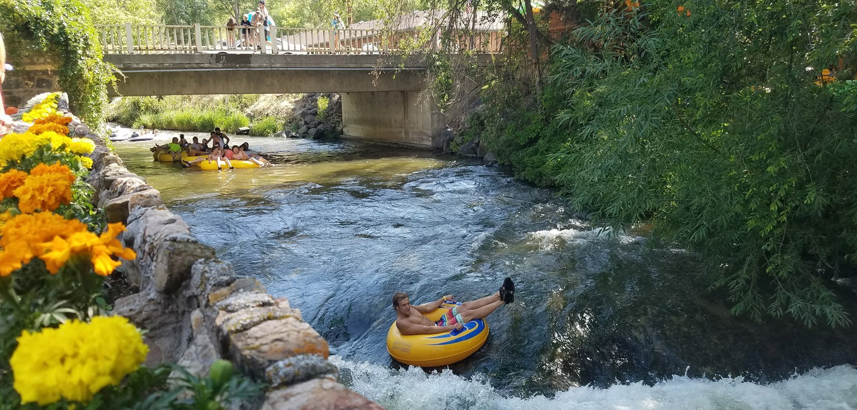 Tubing the Portneuf River in Lava Hot Springs Idaho