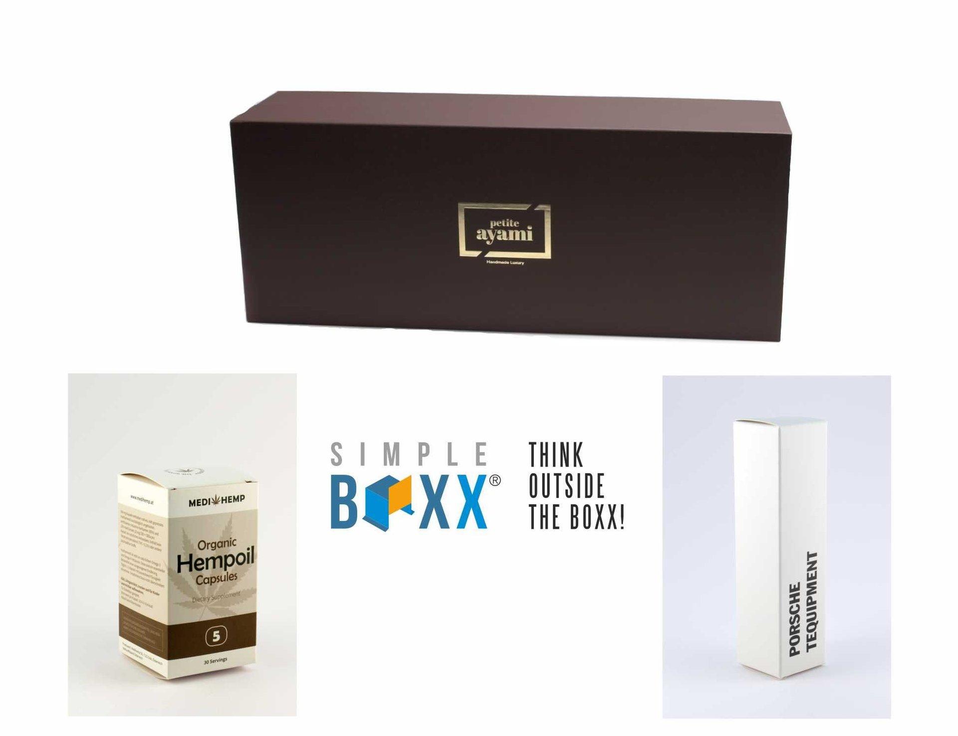 SimpleBoxx® - Faltschachteln - Stülpdeckelschachteln - Klappschachteln