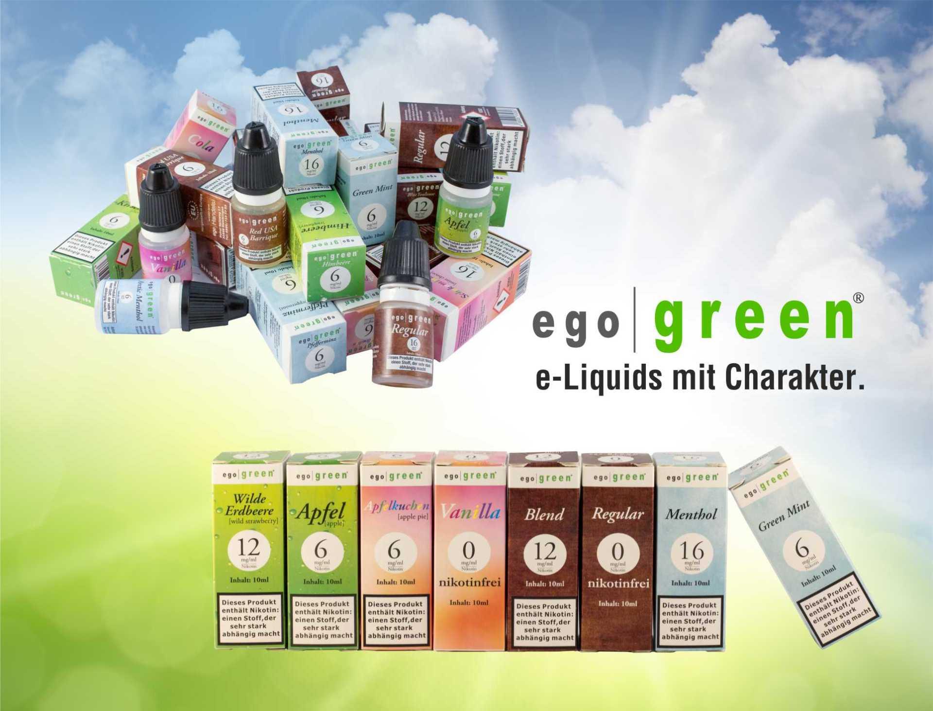 ego|green® e-Liquids mit Charakter.