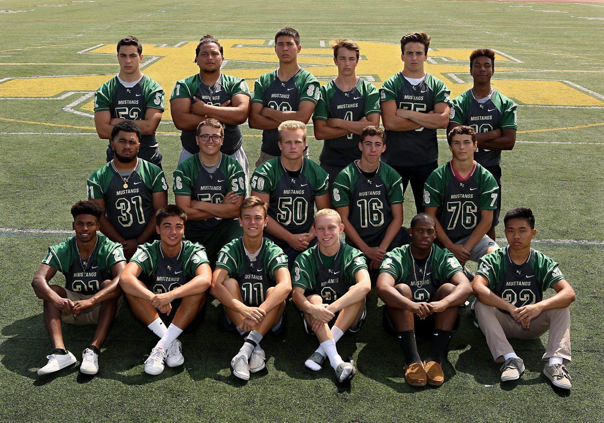 Mira Costa Mustang Football Varsity Seniors - Class of 2018